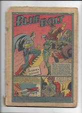BLUE BOLT #10 [1941 PR] SIMON & KIRBY   COVER-LESS COPY!