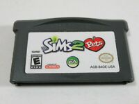 Nintendo Gameboy Advance Sims 2 Pets Cartridge only Authentic