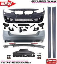 3Series F30 12-18 M3 Sport Style Conversion Front Rear Bumper Cover Lip Body Kit