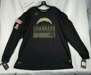 2020 LOS ANGLES CHARGERS Nike Salute to Service Sideline Perform TShirt 3XL NWT