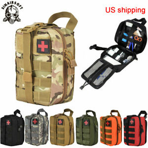 Tactical MOLLE Rip Away EMT IFAK Medical Pouch First Aid Kit Utility Bag US Send