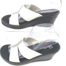 Skechers Memory Foam High Heel Wedge Slide on Shoe Womens 8.