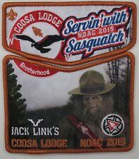 2015 NOAC Centennial OA Coosa 50 LBR BDR 2pc Flap Jack Links Scouter [S358]