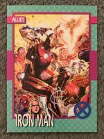 2015 Fleer Marvel Retro 1992 X-Men Impel Iron Man #7 Autograph Signed Card EX/NM