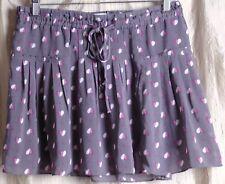 American Eagle Skirt, sz SP,  Mauve/Pink Hearts, Pleats, Polka dots