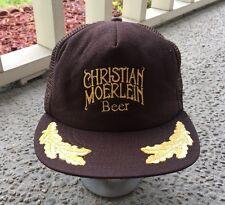 Vintage Christian Moerlein Beer Truckers Snap Back Hat Mesh Ball Cap