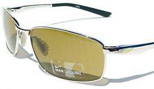 NEW* NIKE AVID Chrome Silver w/ Max Optics Bronze Lens Golf Sunglass EV0589 002