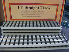 MTH Lionel Corporation RealTrax 14 inch Straight Sections with Roadbed Lot of 6
