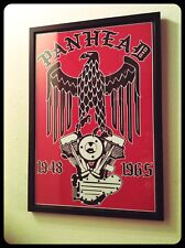 Panhead Engine & Eagle Framed Frame Biker Print Poster Chopper Vintage Harley Hd
