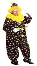 ADULT NEON DOTTED CLOWN COSTUME DRESS NEW AA123