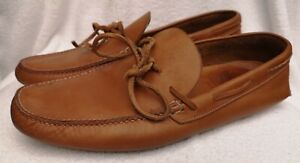 Church's Men's Tan Brown Leather Boat Shoes Size UK 9 Used Condition