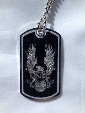 Halo 4 UNSC Symbol Dog Tag Necklace Video Game Handmade halo dog tags