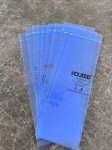 10 * NEW VCI2000 Blue Zipper Polymer Volatile Anti Corrosion 300*100 mm bags