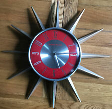 Red George Nelson Starburst Wall Clock