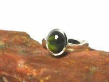 Green  TOURMALINE  Sterling  Silver  925  Gemstone  RING  -   Size  S