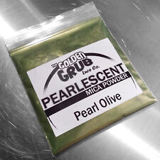 NEW 1 OZ. PEARL OLIVE GREEN Pearlescent Mica Powder Fishing Lure Plastisol Color