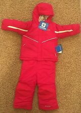 NEW NWT $125 Columbia Girls 2T Arctic Trip Set 2 PIECE Coat Bib Pant Snowsuit