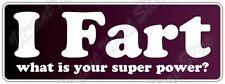 "Fart Super Power Man Superman Funny Car Bumper Window Vinyl Sticker Decal 7""X3"""