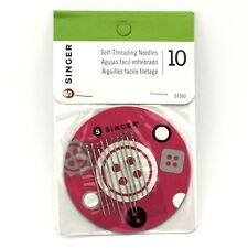 Singer Self-Threading Hand Sewing Needles With Magnetic Holder