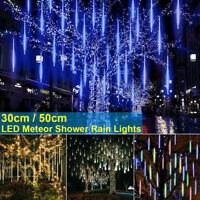 320 LED Meteor Shower Light Falling Rain Drop Icicle Waterproof Christmas Decor#