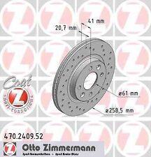 Disque de frein avant ZIMMERMANN PERCE 470.2409.52 DACIA SANDERO 1.6 MPI 85 84ch