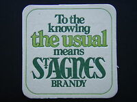 TO THE KNOWING THE USUAL MEANS ST AGNES BRANDY COASTER