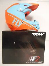 FLY RACING F2 CARBON HELMET SMALL KTM ORANGE MOTOCROSS OFFROAD MX TRAILS REWIRE
