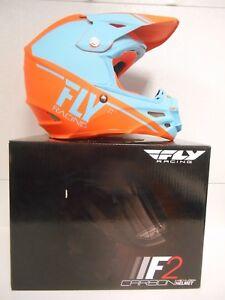 FLY RACING F2 CARBON HELMET SMALL KTM ORANGE MOTOCROSS OFFROAD MX TRAILS REWIRE
