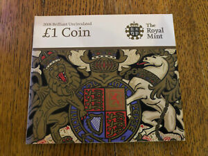 2008 ROYAL ARMS ONE 1 POUND COIN IN ORIGINAL ROYAL MINT PACK