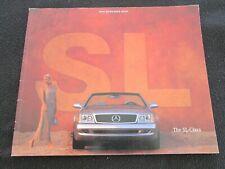 1999 Mercedes Benz SL500 SL600 Brochure R129 SL-class 500 600 Sales Catalog
