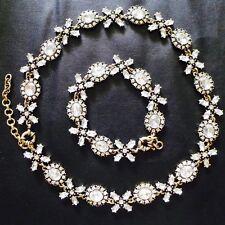NEW Crystal Collar Statement Necklace Bracelet Wedding Bridal Bridesmaid BARGAIN