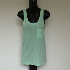 'COUNTRY ROAD' BNWT SIZE 'XXS' GREEN SLEEVELESS LONG TOP WITH BREAST POCKET
