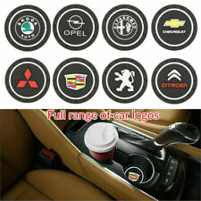 2x 7 Colors LED Car Cup Holder Mat Coaster for General Benz Cadillac TRD Nissan