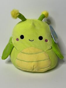 "Pilar Squishmallow Kellytoy Grasshopper 8"" NWT New Plush Summer Squad"