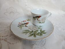 Shafford Chinese Garden Cup & Snack Plate (s) Bird & Floral Design