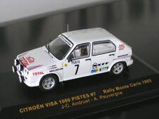 CITROEN Visa Chrono 4x4 Rallye Monte Carlo #7 Andruet Total 1985 S-Pr IXO 1:43