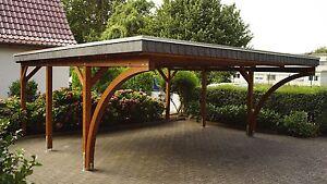 Carport 6x6 m Kiefer inkl. 2 Leimholzbögen ca. 610x600 cm DIREKT VOM HERSTELLER!