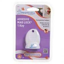 New Dreambaby Adhesive Mag Lock Key Magnetic Cabinet Drawer Baby Safety Dream