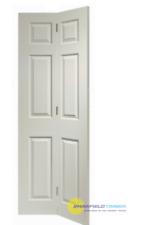 White Primed Bifold Doors, Swing 6 Panel, Internal Folding Door
