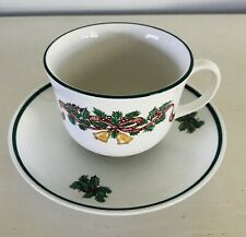 Victorian Christmas Cup & Saucer Johnson Brothers Holiday Dinnerware