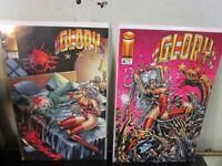 Glory 3 - 4 LOT Jo Duffy Mike Deodato Image Comics Extreme Studios BAGGED BOARDE