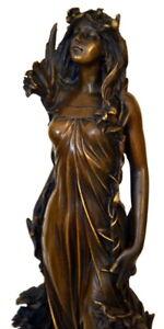 Bronzefigur Jugendstil Akt signiert Milo Bronze Akt auf Marmorsockel
