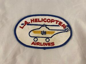 L.A. Helicopter Airlines Embroidered 5x3 Inch Patch Lot 1