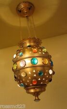Vintage Lighting bejeweled Moroccan style pendant