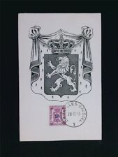 BELGIEN MK 1945 WAPPEN LÖWE LION MAXIMUMKARTE CARTE MAXIMUM CARD MC CM c5718