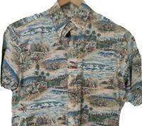 Reyn Spooner Hawaiian Eddy Y Aloha Short Sleeve Shirt Farm Agriculture