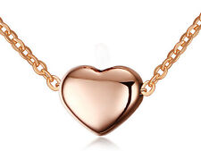 Rose Gold Heart design Necklace Pendant stainless steel Women fashion Jewelry