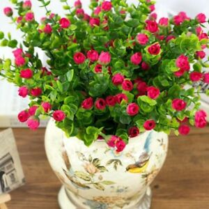 Fake Plastic 30 Heads Rose Flower Artificial Floral for Home Wedding Decoration