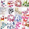 3D Schmetterlinge Blumen 12er Set Dekoration Wandtattoo Wandsticker Wanddeko/DE