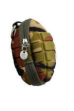 Grenade - Key and Coin Case Money Purse Hang Belt Military Camo Army Karabiner